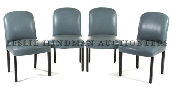 A Set of Four Dakota Jackson Side Chairs, Height 34 1/2