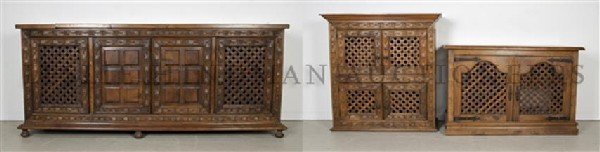 A Two Piece American Bar Suite,