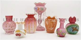 A Collection of Victorian Glass Articles Height of tal