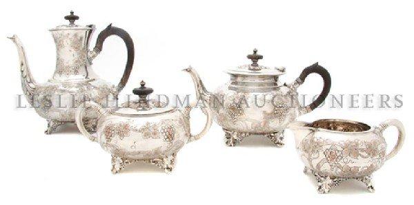 An English Silverplate Tea and Coffee Service, Height o