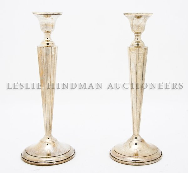 507A: A Pair of American Sterling Silver Candlesticks,