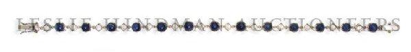 An 18 Karat White Gold, Sapphire and Diamond Bracelet,