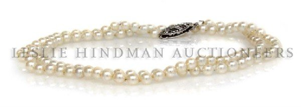 A Single Strand Pearl Necklace,