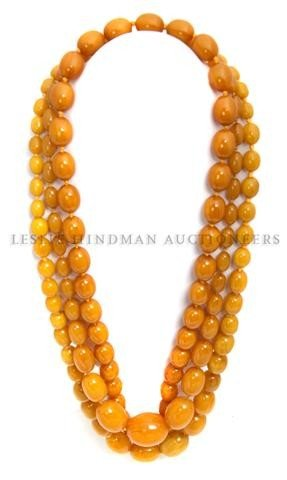 A Group of Amber Bead Necklaces,