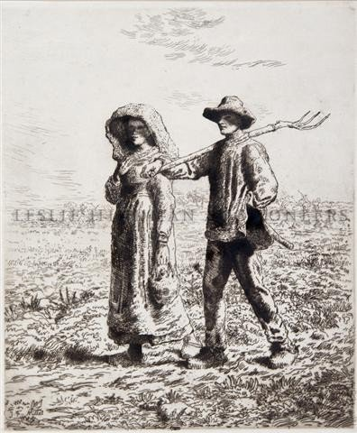 6: Jean Francois Millet, (French, 1814-1875), Le Depart