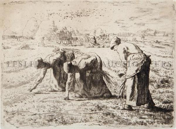 8: Jean Francois Millet, (French, 1814-1875), Les Glane