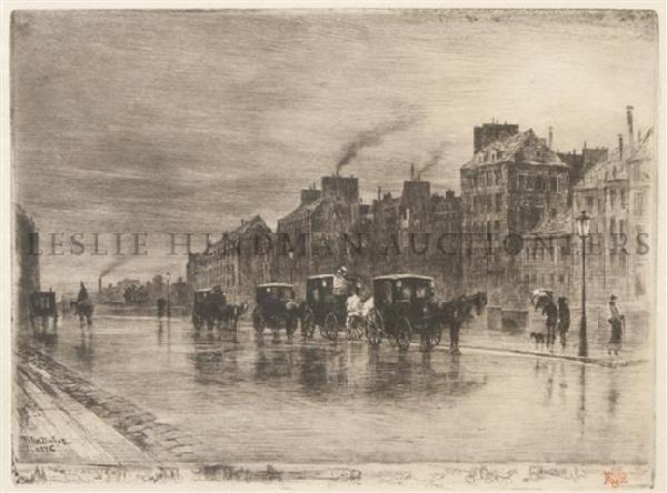 12: Felix Hilaire Buhot, (French, 1847-1898), Une Matin