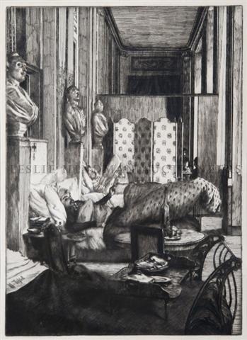 14: James Tissot, (French, 1836-1902), Le Foyer de la C
