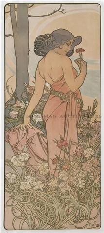 23: Alphonse Mucha, (Czech, 1860-1939), Fleurs