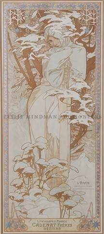 24: Alphonse Mucha, (Czech, 1860-1939), L'Hiver, 1903