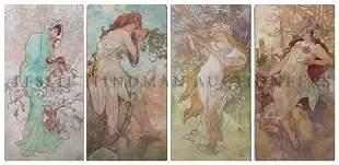 28: Alphonse Mucha, (Czech, 1860-1939), Les Saisons, 18
