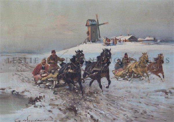 306: Czeslaw Wasilewski, (Polish, 1875-1946), Snowy Rid