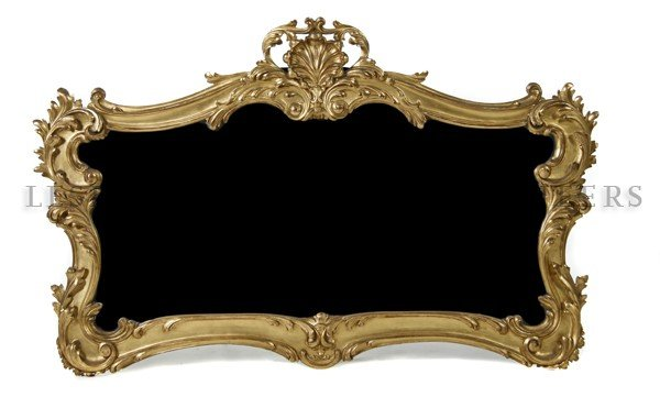 3: A Louis XV Style Giltwood Over Mantel Mirror, Height