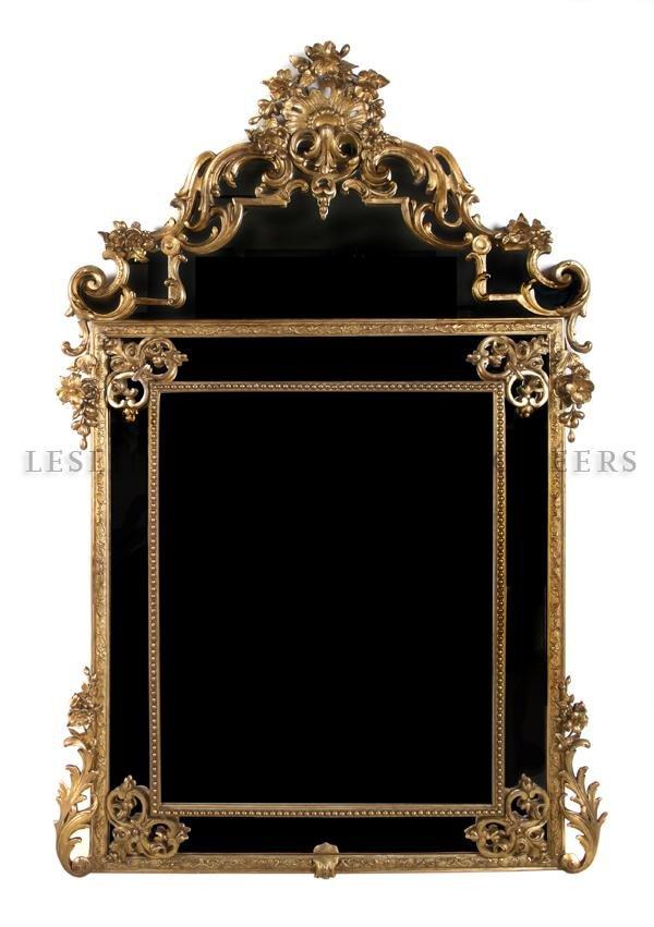 12: A Louis XV Style Pier Mirror, Height 70 x width 43