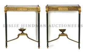 41 A Pair of Neoclassical Gilt and Patinated Bronze Co