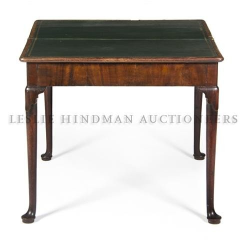 549: A Queen Anne Style Mahogany Games Table, Height 28
