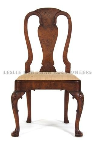 552: A Queen Anne Style Side Chair, Height 40 1/2 inche
