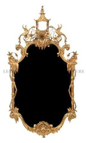 555: An English Chinoiserie and Giltwood Mirror, Height