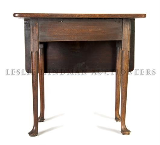 563: A George II Mahogany Card Table, Height 26 1/2 x w