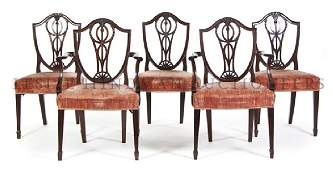 692 A Set of Ten George III Mahogany Chairs Height 37