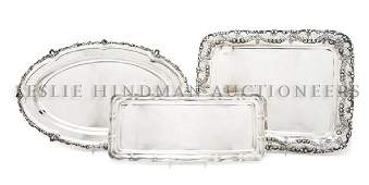 936 A Group of Three German Silver Trays Width of wid