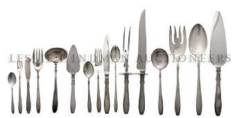 1004: An American Partial Sterling Silver Flatware Serv