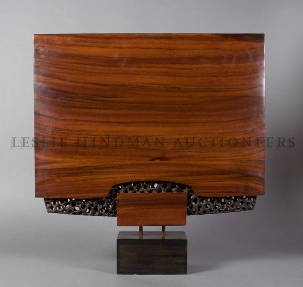 1174: A Doug Ayers Carved and Shaped Rosewood Sculpture
