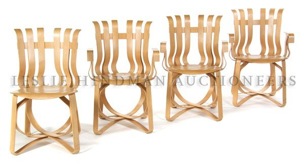 1177: A Set of 'Hat Trick' Chairs, Frank Gehry for Knol