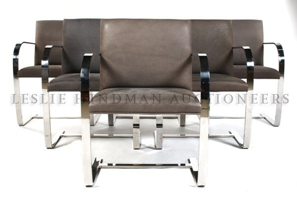 1180: A Set of Six BRNO Armchairs, Knoll, after a desig