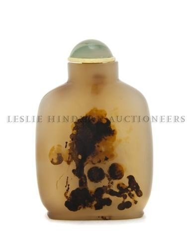 7: A Silhouette Agate Snuff Bottle, Height of bottle 2