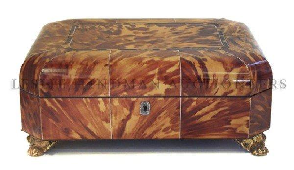8: A Regency Style Tortoiseshell Box, Length 10 inches.