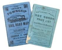 313: (CHICAGO, MAPS) CRAM, GEORGE F. Cram's Township an