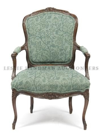 2: A Louis XVI Style Fauteuil, Height 31 1/2 inches.