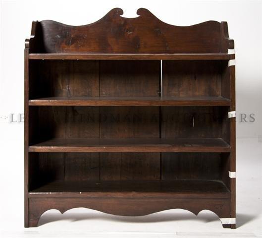 11: An English Elm Bookstand, Height 38 1/4 x width 36