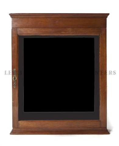 13: A Mahogany Display Case, Height 33 x width 27 x dep