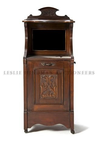 16: A Victorian Style Mahogany Coal Cabinet, Height 37