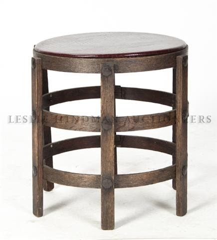 18: An American Arts and Crafts Style Stool, Height 16