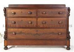 99A: A Victorian Mahogany Chest of Drawers, Height 39 x