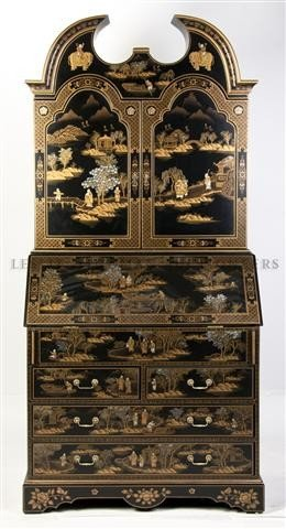 115: A Georgian Style Secretary Bookcase, Height 82 inc