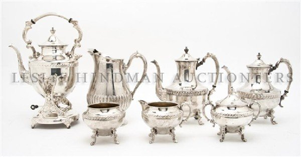 605: An American Silverplate Tea and Coffee Service, He