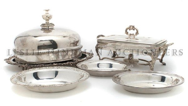 615: An American Silverplate Tray, Width of first 18 3/