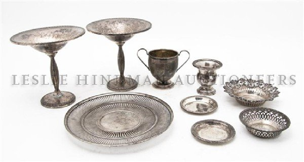618: A Collection of American Sterling Silver Articles,