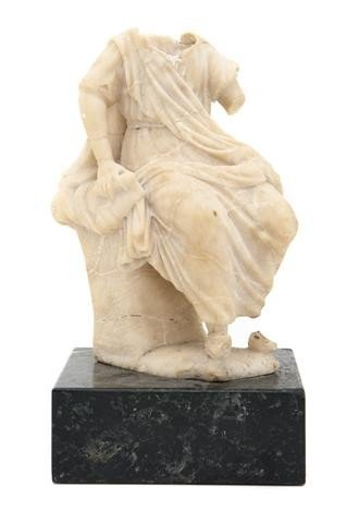 9: A Carved Alabaster Figure, After the Antique, Height