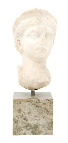 10: A Continental Marble Bust, After the Antique, Heigh