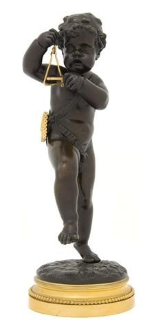19: A French Gilt and Patinated Bronze Figure, after Cl