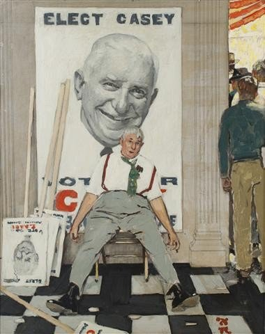 15: Norman Rockwell, (American, 1894-1978), Elect Casey