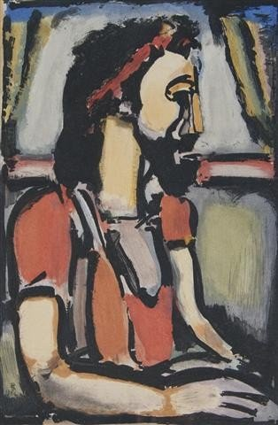 258: Georges Rouault, (French, 1871-1958), Christ