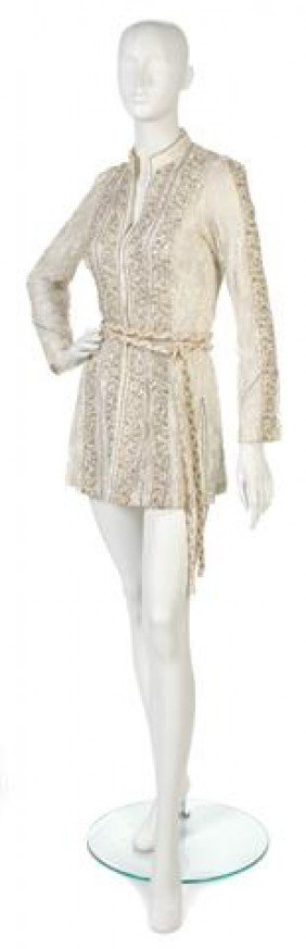 A Thea Porter Couture Ivory Lace Jacket,