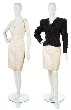 A Carolina Herrera Cream Textured Dress,