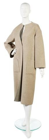 158: A Bill Blass Tan Wool Coat.
